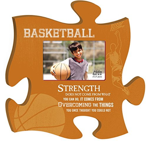 Basketball Strength Overcome 4x6 Photo Frame Inspirational Puzzle Piece Wall Art Plaque (Basketball Frame compare prices)