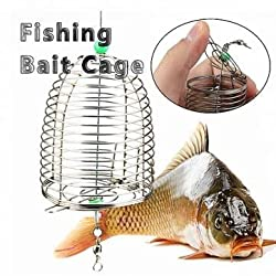 10g Stainless Steel Wire Fishing Bait Lure Cage Fishing Trap Basket Feeder Holder