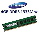 SAMSUNG Original 4 GB 240 Pin DDR3-1333 (1333Mhz, PC3-10600, CL9) Non-ECC / Unbuffered ( M378B5273BH1-CH9 ) for DDR3 + i3 + i5 + i7 Mainboards