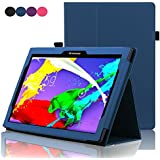 Lenovo Tab 2 A10 Case , ACdream (TM) Stand Leather Cover Case for Lenovo Tab 2 A10-70 10-Inch 16 GB Tablet (2015) Case with auto wake sleep function , Dark Blue