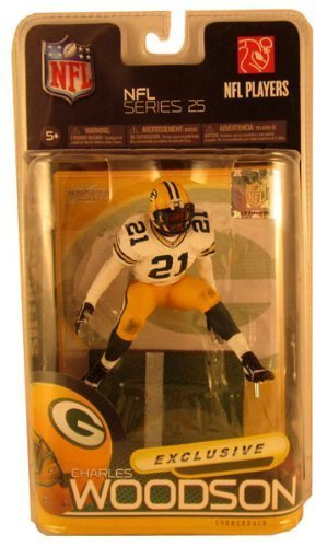 2010 MCFARLANE NFL SERIES 25 CHARLES WOODSON GREENBAY PACKERS #21 GREEN JERSEY VARIANT COLLECTOR LEVEL BRONZE CHASE NUMBER #1891/3000 FOOTBALL FIGURE by McFarlane Toys günstig bestellen