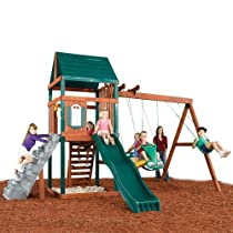 Big Sale Best Cheap Deals Swing - N - Slide Brentwood Wood Complete Ready - To - Assemble Swing Set Kit