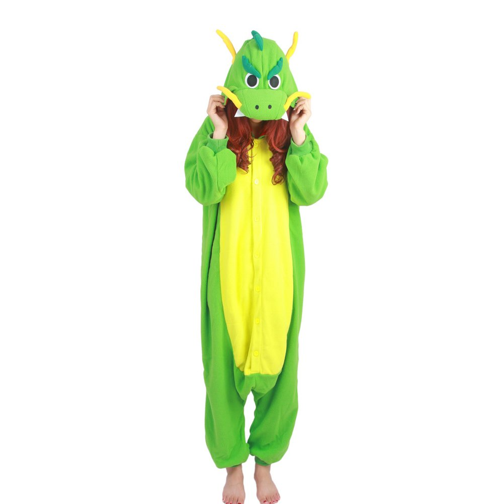 Kigurumi China Dragon Pajamas green
