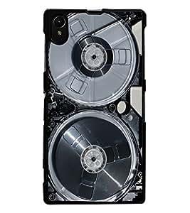 ColourCraft Retro Video Cassette Design Back Case Cover for SONY XPERIA Z1