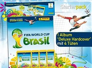 Panini WM 2014 Sticker Hardcover Starterset Deluxe (Album + 4 Tüten)