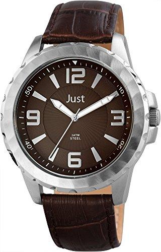 Just Watches 48-S9312-BR - Orologio da polso uomo, pelle, colore: marrone