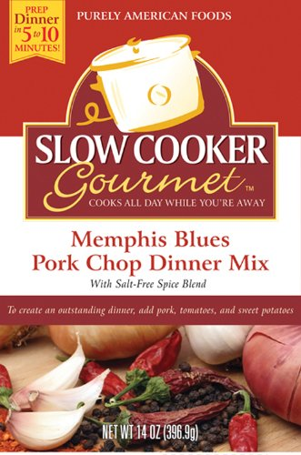 Slow Cooker Gourmet Memphis Blues Pork Chop Dinner Mix 14 Ounce Boxes Pack of 6