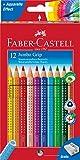 Toy - Faber-Castell 110912 - Farbstifte Jumbo GRIP, 12er Kartonetui, inklusive Spitzer