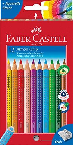 faber-castell-110912-jumbo-estuche-de-carton-con-12-ecolapices-de-colores-grip-acuarelables