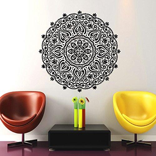 wandaufkleber mandala indischen muster yoga oum om zeichen aufkleber vinyl aufkleber home decor. Black Bedroom Furniture Sets. Home Design Ideas