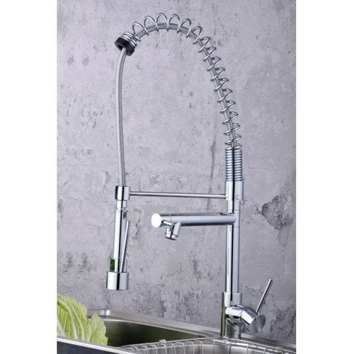 Single Handle Pull Down Pre-rinse Spring Kitchen Faucet