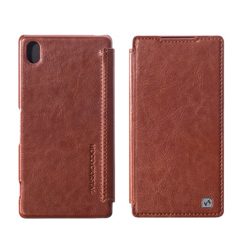 Moon Monkey Lightweight Ultra-Thin Classical Retro Leather Case For Sony Xperia Z2 (Brown)