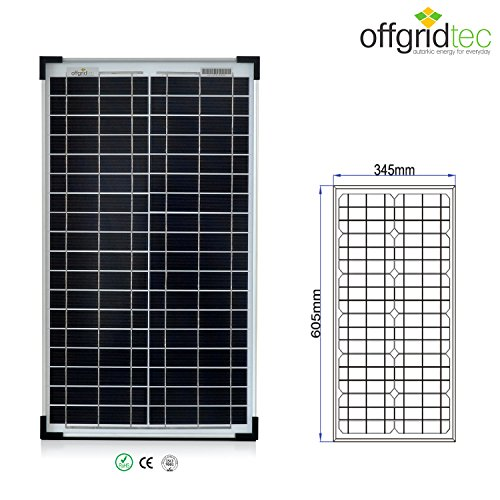 30 W Solarmodul Mono 12 V, Solarpanel, Solarzelle, Photovoltaikmodul, 3-01-001530