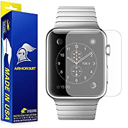 ArmorSuit MilitaryShield For Apple Watch 42mm Matte Screen Protector (Series 1) Full Coverage [2 Pack] Anti-Glare - Lifetime Replacements