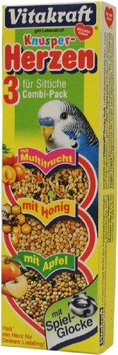 Vitakraft Sittich Knusper-Herzen mit Glocken