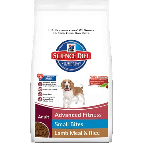 Hill's Science Diet Adult Lamb Meal and Rice Recipe Small Bites Dry Dog Food, 15.5-Pound Bag
