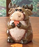 Ceramic Forest Friends Moose Cookie Jar Canister