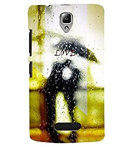 PRINTSWAG LOVER IN RAIN Designer Back Cover Case for LENNOVO A2010