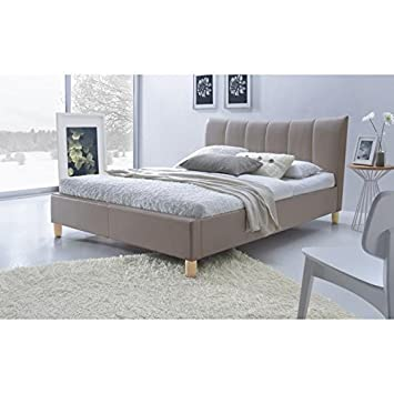 Sweety cama adulto 140x 190cm + somier-color taupe