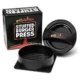 Grillaholics Stuffed Burger Press and Recipe eBook - Lifetime Guarantee - Hamburger Patty Maker for Grilling - BBQ Grill Accessories