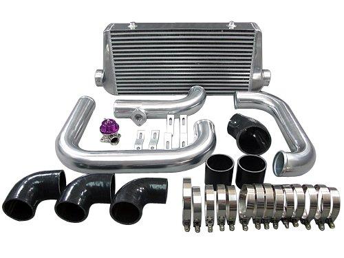 Chevrolet Camaro LS1 LT1 Single Turbo Front Mount Intercooler kit w/BOV black (Camaro Intercooler compare prices)