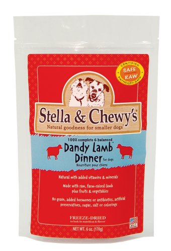 Stella & Chewy's Freeze Dried Dog Food for Adult Dogs, Lamb Patties, 32 Count, 16 Ounce Bag