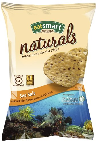 Snyder's of Hanover Eatsmart Naturals Sea Salt Tortilla Chips, 10-Ounce Bags (Pack of 12)