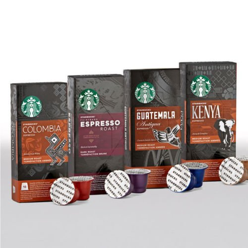 Find Starbucks Nespresso Espresso Selection Coffee Set 4 Flavour Variety Pack 40 Pods by Nespresso