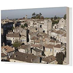 Canvas Print of St. Emilion village, Gironde, France, Europe
