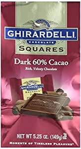 Ghirardelli Chocolate Squares Dark Chocolate 60% Cacao Packages - 5.25 oz