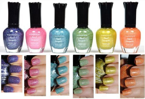 Kleancolor-Nail-Polish-HOLO-SET-Lot-of-6-Lacquer