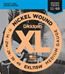D'Addario EXL115W XL Nickel Wound Jeu...