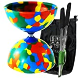 Diabolo Multi-coloured diablo for kids Sold with professional aluminium sticks fitted with Slide Pro string a complete kit with a nylon storage bag