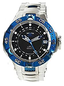 Men's LIMITED EDITION Subaqua GMT Automatic Stainless Steel Case and Bracelet Black Tone Dial Blue Tone Bezel