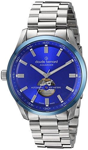 Claude-Bernard-Mens-85026-3MBU-BUIN-Aquarider-Analog-Display-Swiss-Automatic-Silver-Watch