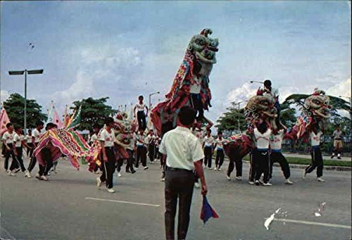 Lion Dance in Singapore celebrating National Day