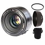 YONGNUO YN50mm f1.8 YN 50mm AF Lens YN50 Auto Focus lens + ES-62 lens hood + 52mm UV Lens + Lens Bag For Canon EOS DSLR Cameras