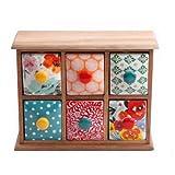 Flea Market 6-Drawer Spice/Tea Box,The Pioneer Woman