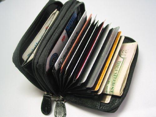 Woman's Women's Leather Wallet ID Credit Cards Cash Coin Holder Case Purse Orgnizer