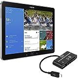 kwmobile 3in1 Micro USB OTG Kabel Adapter für Samsung Galaxy Note Pro 12.2 P900 P905 / Tab Pro 12.2 T900 - Card Reader Tablet Kartenleser Anschluss für USB 2.0 / SD Karte / Micro SD Karte in Schwarz