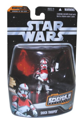 "Buy Low Price Hasbro Star Wars Year 2006 Episode III Movie Series ""Revenge of the Sith"" Greatest Battles Collection 4 Inch Tall Action Figure – SHOCK TROOPER with Blaster Pistol and Blaster Rifle Plus Exclusive Emperor Palpatine's Hologram 2 Inch Tall Mini Figure (B003OL6Q9G)"
