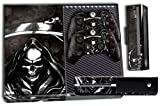 Designer Skin Sticker for the Xbox One Console With Two Wireless Controller Decals- Reaper Black
