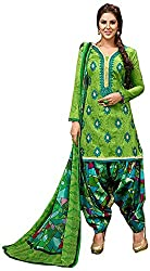 Begum Riwaaz Women's Georgette Unstitched Dress Material (18001B, Green)