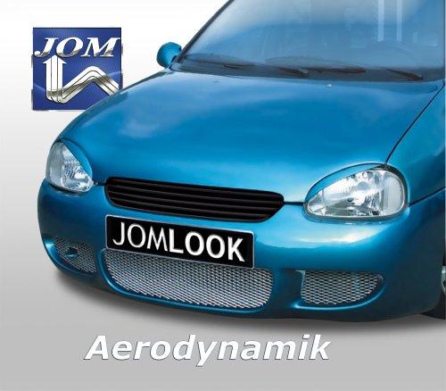 Kühlergrill JOM, Opel Corsa B, ohne Emblem (mit Gutachten), schwarz