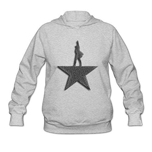 PHOEB Womens Sportswear Drawstring Hoodies Outwear Jacket,Hamilton Ash XX-Large