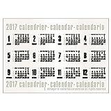 エトランジェディコスタリカ 2017年 カレンダー ポスター B2 コンパクタ CLP-B2-02