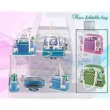 Kuber Industries Mama's Bag, Baby Carrier Bag, Diaper Bag, Travelling Bag (Pink)