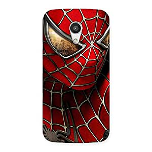Delighted Spide Two Red Back Case Cover for Moto G 2nd Gen