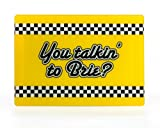 Mustard M13010B You Talking to Brie Cheesy Boards, Yellow