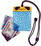 Dry Pak TPU Waterproof and Temperature-Resistant Wallet with Alligator Skin Print Pattern and Removable Adjustable Lanyard